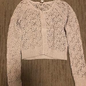 Free People Knit Sweater Size Small Cream